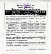 Notice Regarding Fee Structure of MBBS & BDS Programs for Foreign Candidates