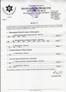 Result of Masters Level Final Year various programs.